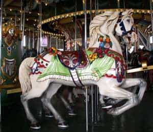 Nantasket Beach Vintage Paragon Park Carousel Wins Grant - Horses Delighted!