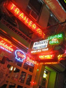 Trailer Park Lounge Neon New York City Retro Roadmap