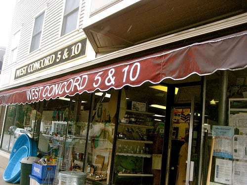 The West Concord 5 & 10 Variety Store - It's Five and Dime Time!