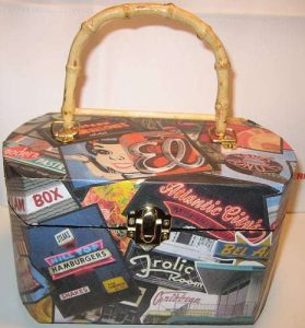 Decoupage Retro Inspired Purse - Retro Roadpurse
