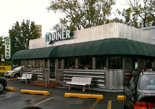 DK Diner West Chester PA - Under The Green Awning is a Vintage Diner!