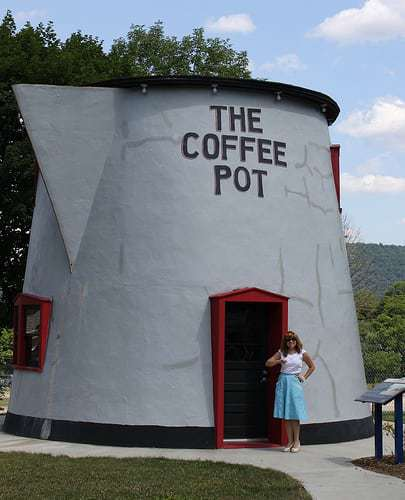 That's One Big Coffee Pot in Bedford PA!