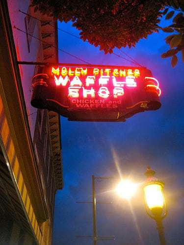 Molly Pitcher Waffle Shop - Vintage Neon Sign - Chambersburg PA
