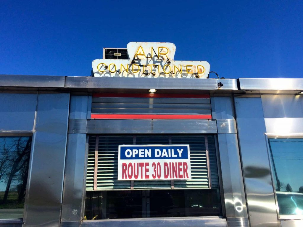 Route 30 Diner Ronks PA - Retro Roadmap 2017