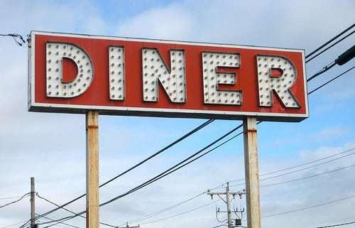 Diner Sign Photo Op Milford Delaware