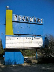 Edgemere Drive In Movie Sign Shrewsbury MA