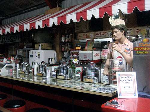 Old Sled Works - Antiques, Vintage Pinball, Soda Fountain and More!