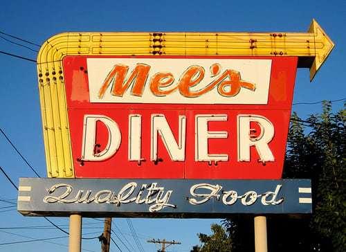 Mel's Diner Lebanon PA - Cool Vintage Sign and Diner, Best BLT Ever!