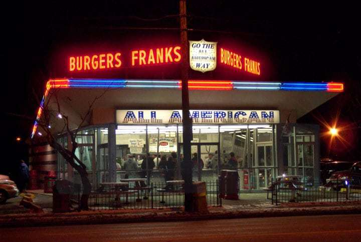 All American Burger Massapequa NY - The Photo That Started the Retro Long Island Journey