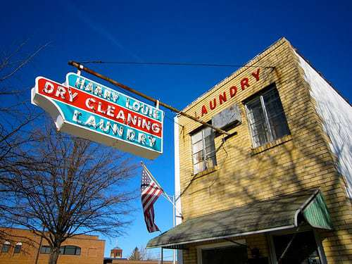 Harry Louie Laundry & Dry Cleaning - Dover, DE - Great Vintage Neon Sign!