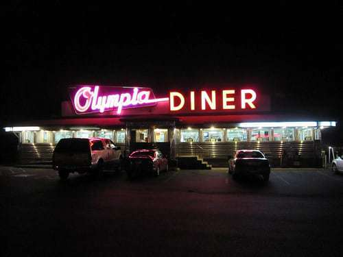Olympia Diner Newington CT  - Love That Vintage Neon Sign!