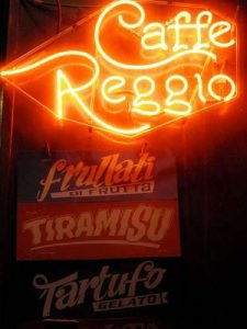 Cafe Reggio New York City Neon