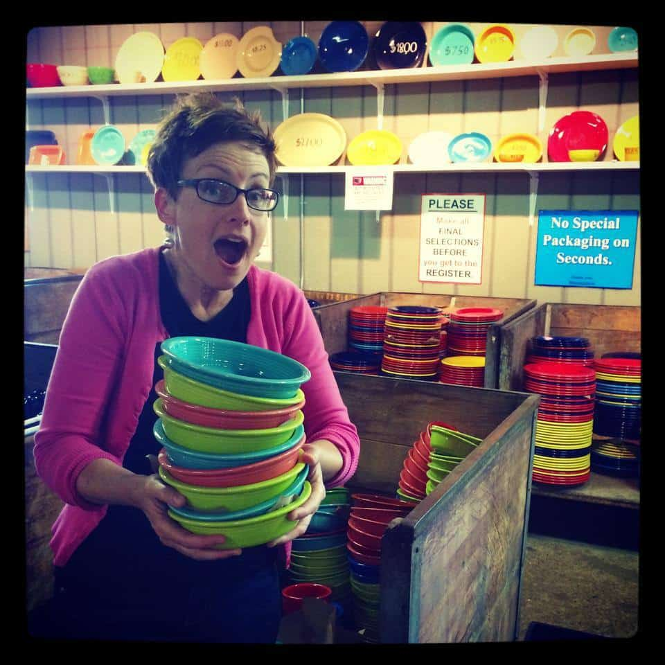Mod Betty Fiestaware Outlet Store Newell WV Retro Roadmap