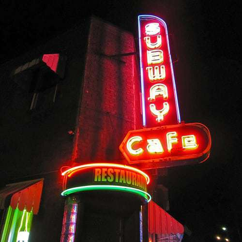 Subway Cafe Harrisburg PA - Since 1948 a Neon Beacon for Pizza Lovers