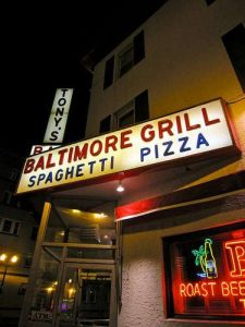 Tony's Baltimore Grill Cafe Atlantic City NJ