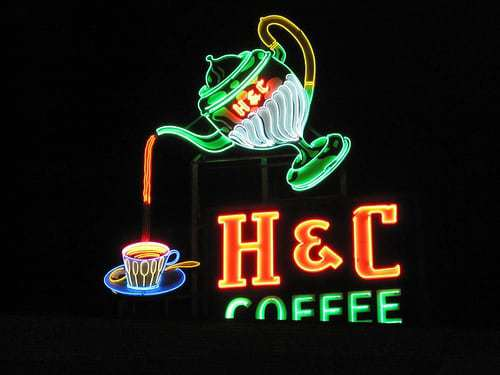 Cool Old Signs - Dr. Pepper, H & C Coffee, Little Chef