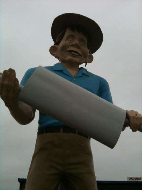Beaumont TX Muffler Man