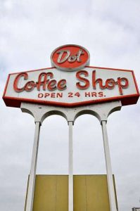 Dot Coffee Shop Houston TX Sign RetroRoadmap.com