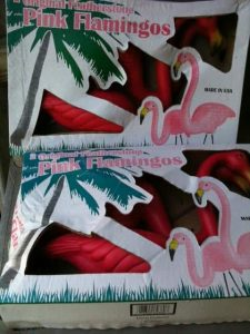 Featherstone Pink Flamingos in Box