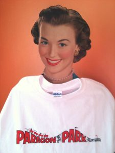 Margie and her Paragon Park Tee Shirt
