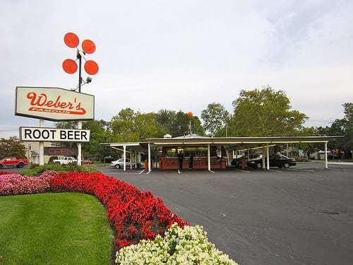 Weber's Drive In Restaurant Pennsauken NJ - Car Hops and Home Made Root Beer!