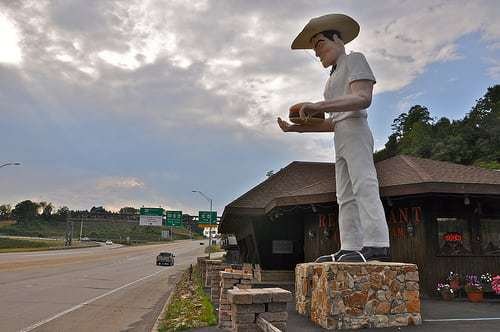 The Cadet Kittanning, PA - Stop for Muffler Man Cowboy Sam, Stay For The Pie!