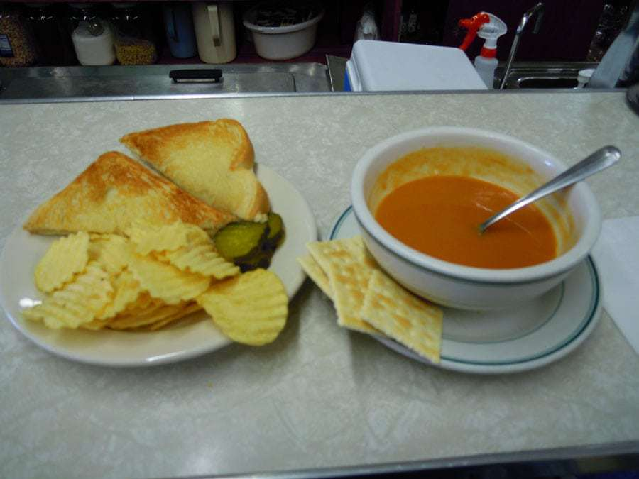 West End Drug Co Bar Harbor Maine Lunch Counter Soup Sandwich