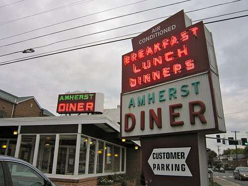 Country Ham and a Drive-In Theatre Tip - at the Amherst Diner