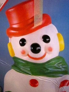 blow mold snow man box empire