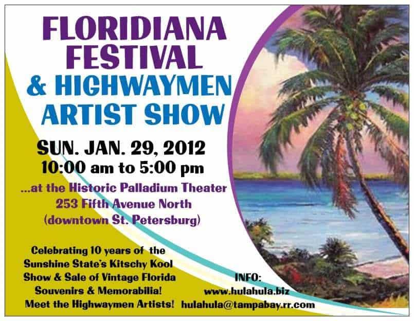 EVENT Vintage Florida Memorabilia Show - Jan 29, 2012