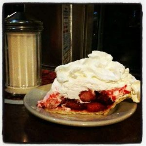 Strawberry Pie at the Kumm Esse Diner Myerstown PA