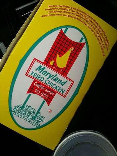 """Maryland Fried Chicken Winter Garden FL - Neon Sign & Vintage Graphic """"Delite"""""""