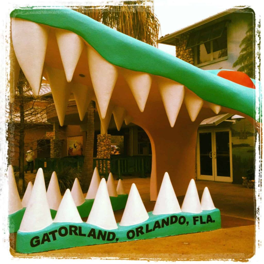Gatorland Orlando FL - Mold-A-Rama Machine and the Alligator Capitol of The World