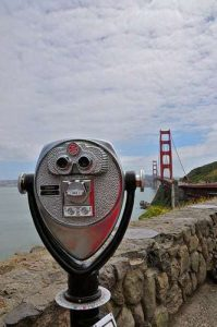 Vintage Viewer at Golden Gate Bridge