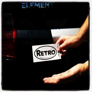 Retro Roadmap sticker decal