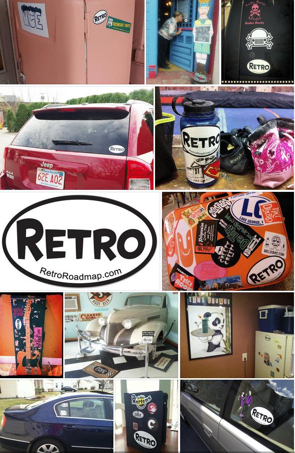 Retro Roadmap Sticker Spotting Retro Roadmap