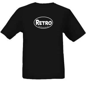 Retro Roadmap Oval Logo - Mens Tee - Black