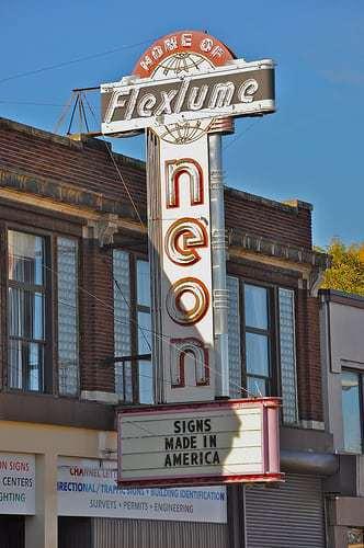 Flexlume Signs - Shuffle off to Vintage Buffalo NY - Retro Roadmap Mega Post!