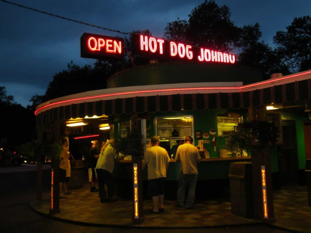 Hot Dog Johnny Butzville Counter