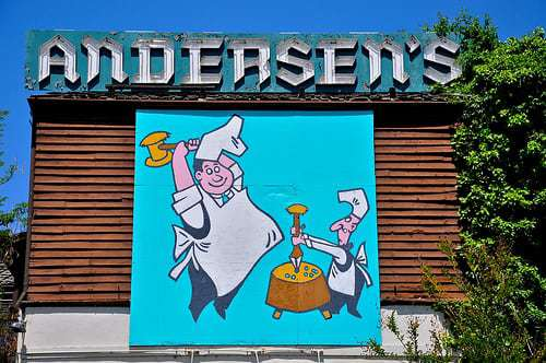 Is Pea Soup Roadfood? In Buellton CA it is! Pea Soup Andersen's