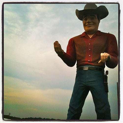 Cowboy Muffler Man - Goin Down to Cowtown, Pilesgrove NJ