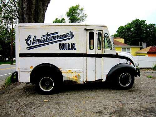 Christiansen's Milk - In Glass Bottles Delivered by Vintage Milk Trucks!