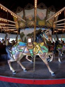 Weona Park Carousel Horse Pen Argyl PA
