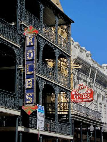 Vintage Signs and The Oldest Street Car Line In The Country - St. Charles Ave New Orleans