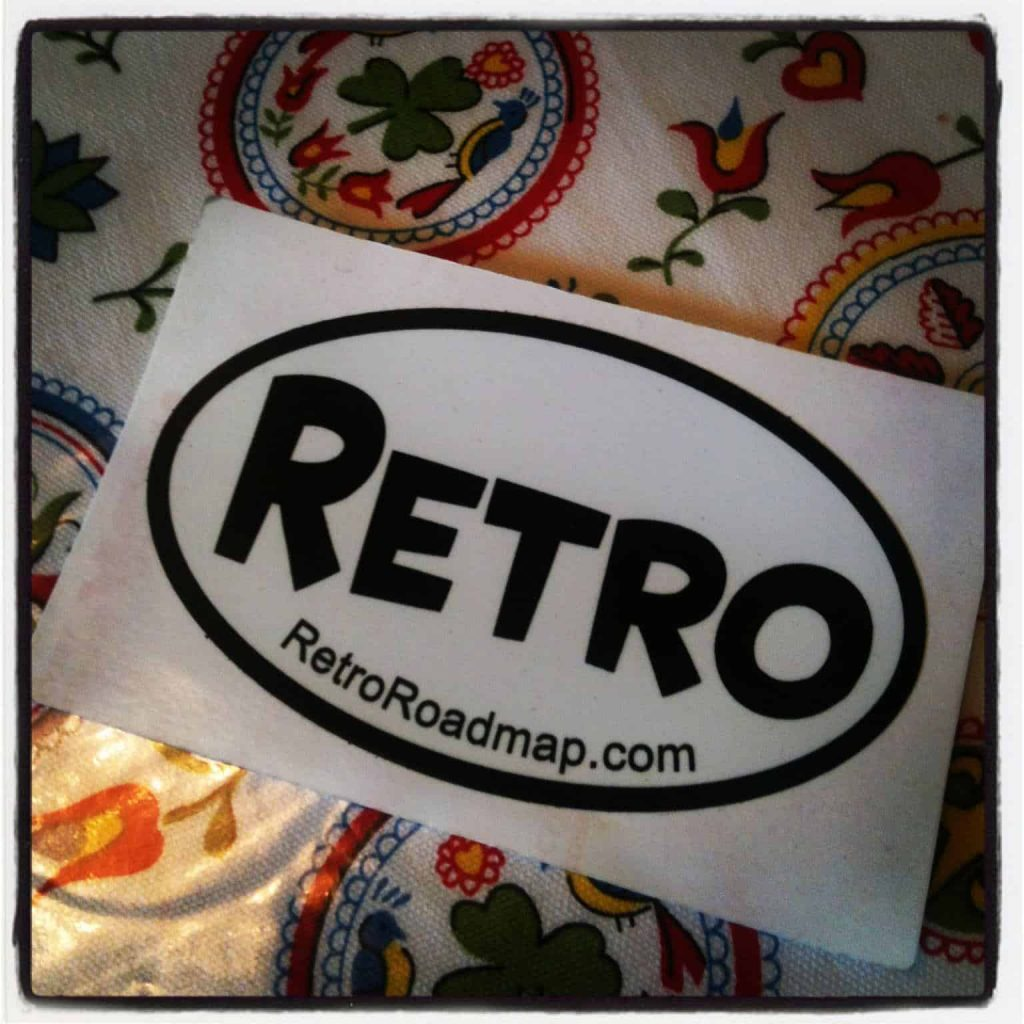 retro roadmap sticker free