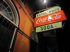 Royal Pharmacy New Orleans Coke Sign RetroRoadmap.com