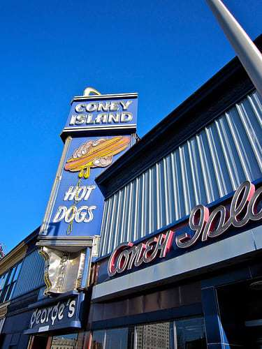 George's Coney Island Worcester - Hot Dog! It's The Coolest Neon Sign in MA