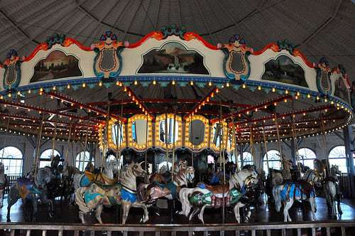On a Carousel! Santa Monica Pier - Santa Monica, CA