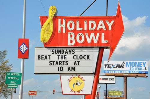 Holiday Bowl Vintage Sign