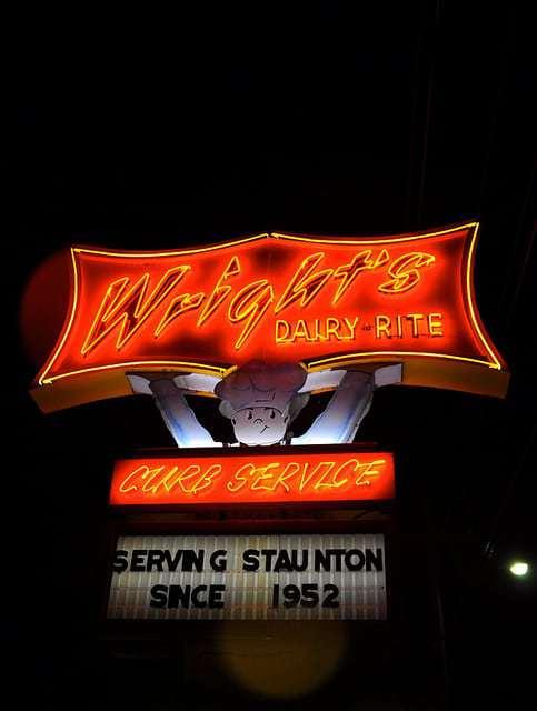 Wright's Dairy-Rite Staunton VA - Car Hop Service Just Off 81